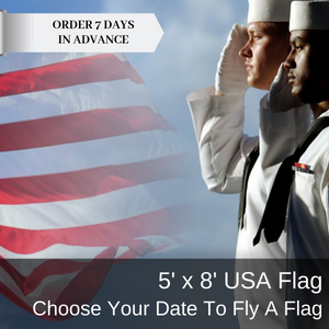 5x8 Choose Your Date USA Flag Flown On USS Arizona Memorial At Pearl Harbor