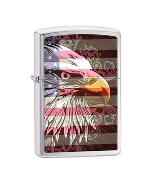 Genuine Zippo Lighter, Eagle & Flag