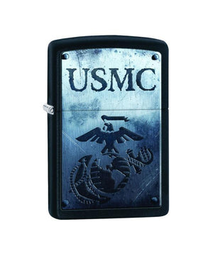 Genuine Zippo Lighter - USMC, Black