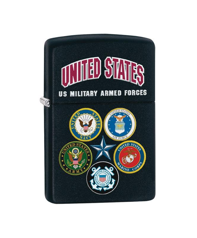 U.S. Military Genuine Zippo Lighter, Black