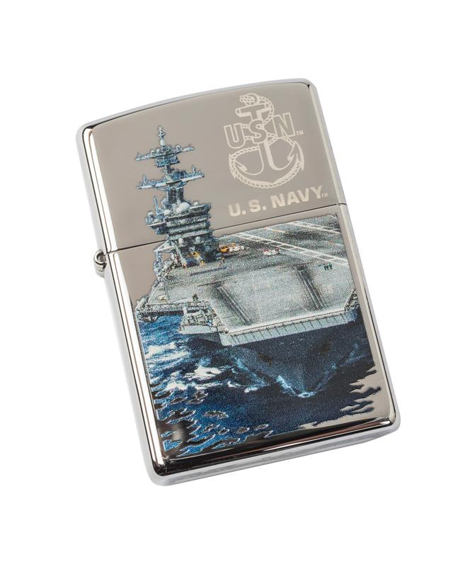 Genuine Zippo Lighter - U.S. Navy Ship