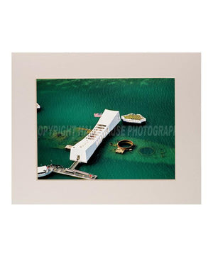 8x10 USS Arizona Memorial Photograph