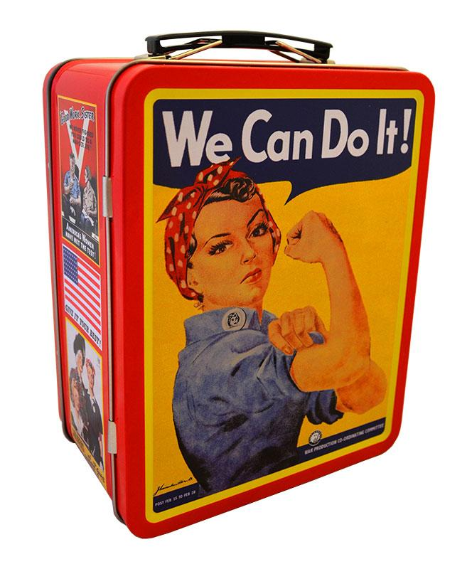 Rosie the Riveter Lunch Box, Red