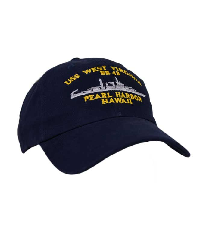 USS West Virginia BB48 Cap
