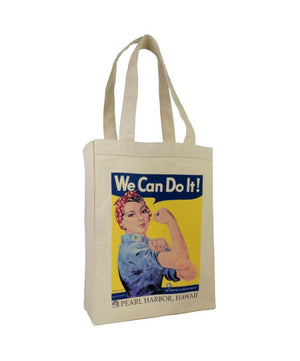 Rosie the Riveter Canvas Tote Bag