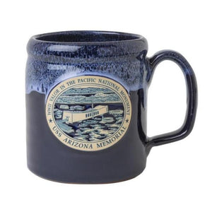14 oz. Hand Thrown Pottery Mug - USS Arizona Memorial