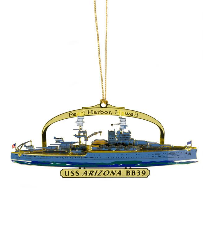USS Arizona Christmas Ornament