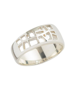 Tree of Life Ring Sterling Silver, Size 8