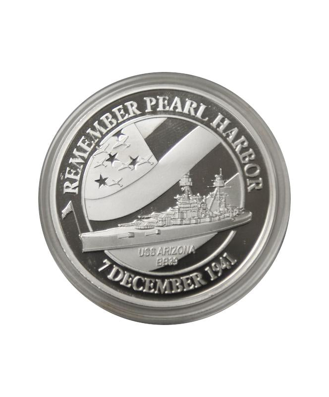 USS Arizona Memorial Commemorative Coin Silver Clad
