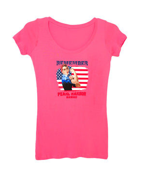 Woman's Rosie the Riveter T-shirt, Pink