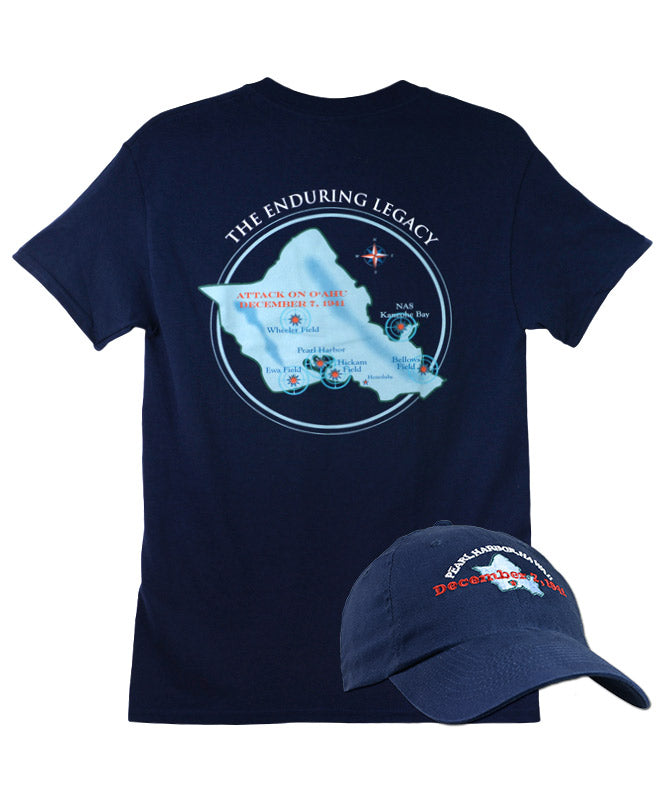 Men's 'The Enduring Legacy' Hat and T-shirt Combo, Navy