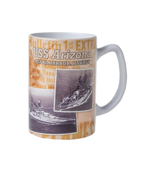 USS Arizona Historical Images Mug, 14 oz.