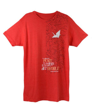 Sadako Crane T-shirt Red