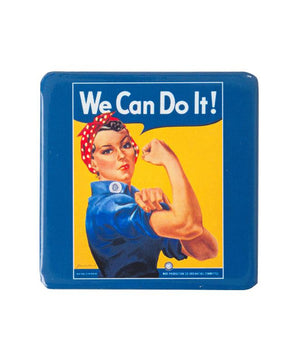 Folding Square Compact Mirror - Rosie the Riveter