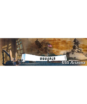 USS Arizona Memorial Historic Collage Bookmark