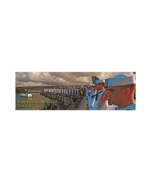 USS Arizona Memorial Render Honors Magnet