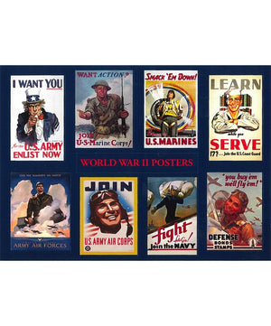 World War II Posters Stickers