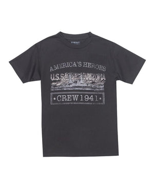Men's America's Heroes USS Arizona T-Shirt, Black