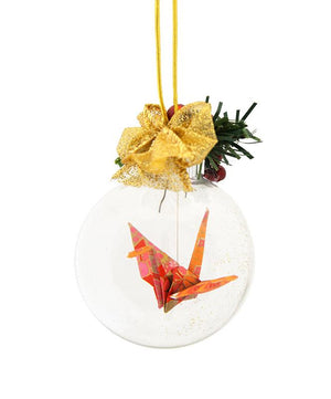 Origami Crane Christmas Ornament
