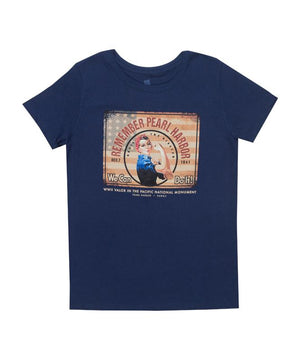 Woman's Rosie the Riveter T-Shirt, Navy Blue