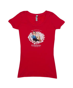 Woman's Rosie the Riveter T-Shirt, Red