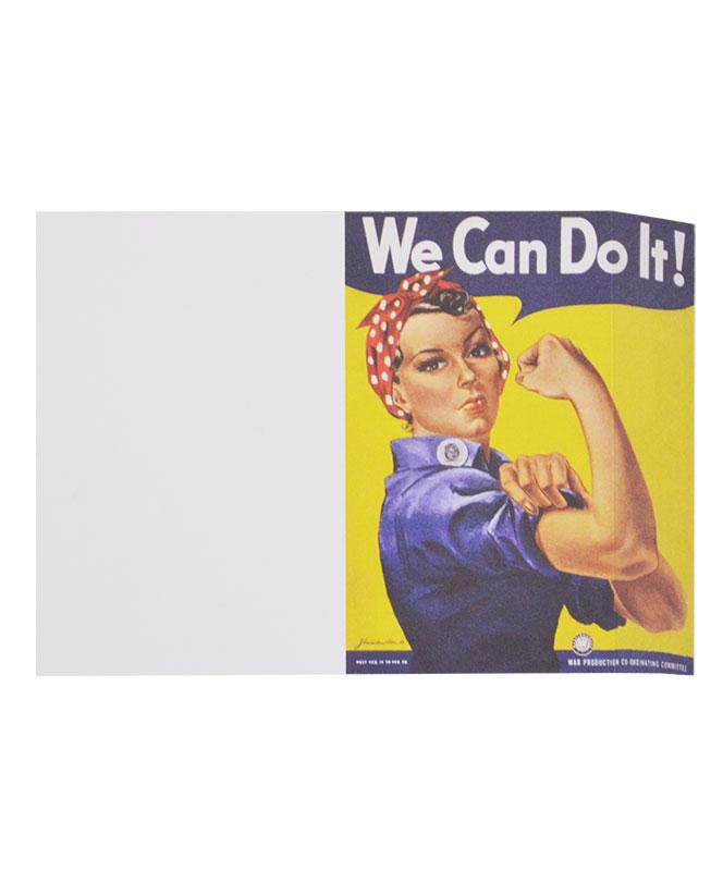 Rosie the Riveter Angle Notepad