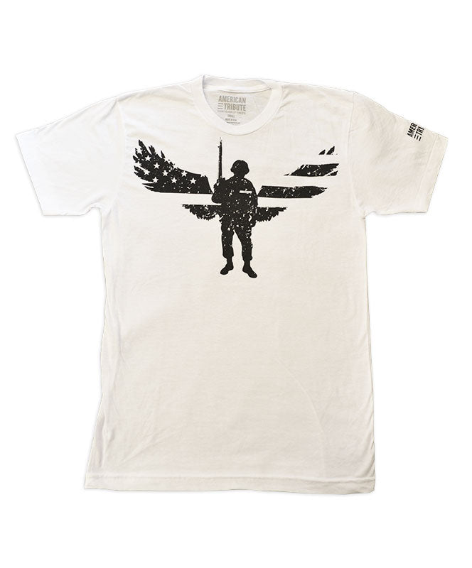Men's American Tribute Brand Soldier Tribute T-shirt, White