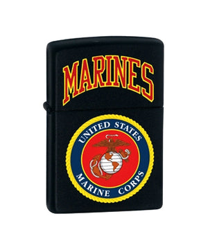 Genuine Zippo Lighter - U.S. Marines, Black