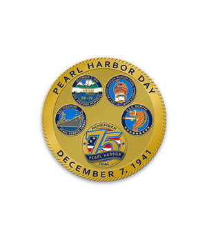 75th Pearl Harbor Day Coin in Gold