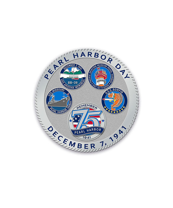 75th Pearl Harbor Day Coin, Silver
