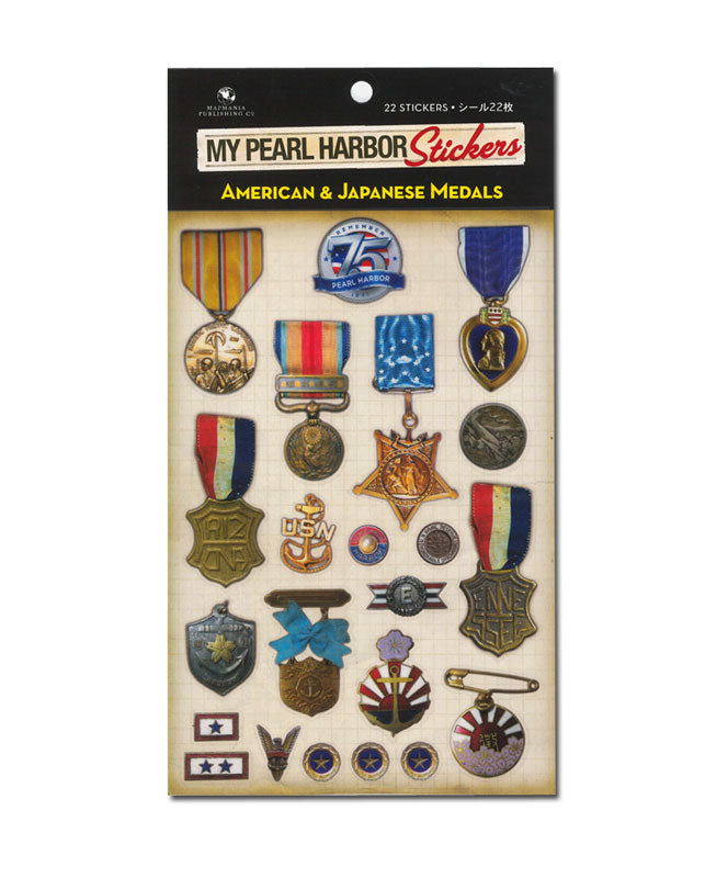 My Pearl Harbor Stickers - American and Japanese Medals