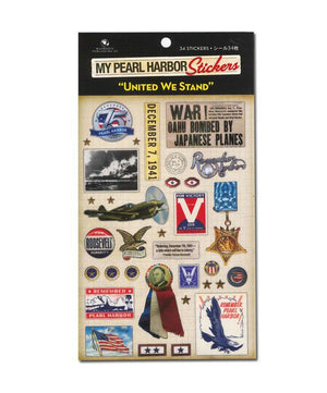 "My Pearl Harbor Stickers - ""United We Stand"""