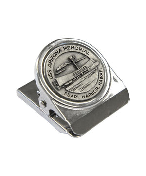 USS Arizona Memorial Clip Magnet, Pewter