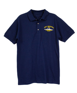 Men's USS Arizona BB39 Polo Shirt, Navy