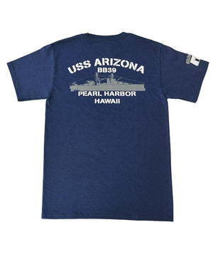 Men's USS Arizona BB39 T-shirt, Navy Blue
