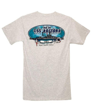 Men's USS Arizona and Memorial T-Shirt, Gray