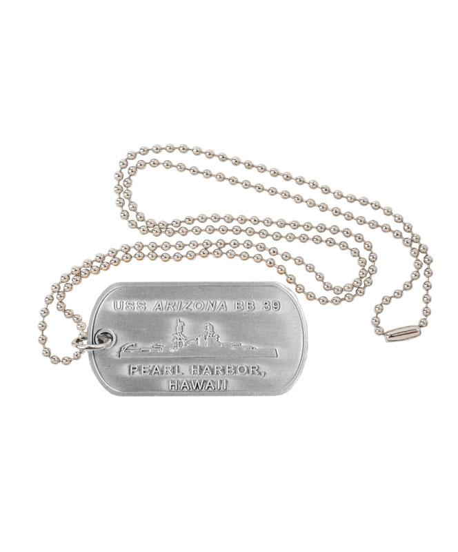USS Arizona BB-39 Remembrance - Dog Tag