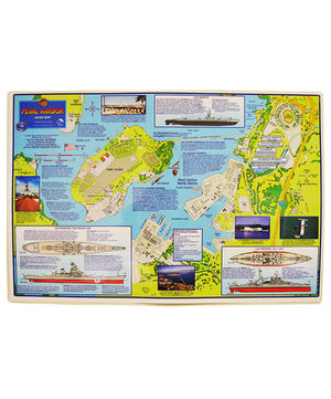 Laminated Pearl Harbor Guide Map