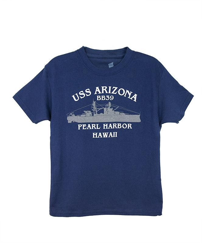 Kid's USS Arizona BB39 T-Shirt, Navy Blue