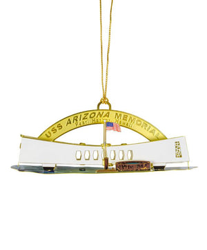 USS Arizona Memorial Christmas Ornament