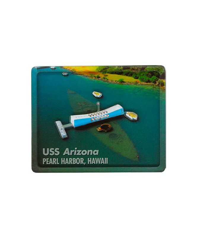 Aerial USS Arizona Memorial - 3D Magnet