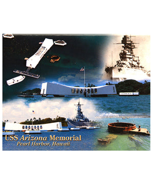USS Arizona Memorial Collage Magnet