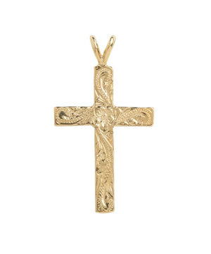 Hawaiian Cross Pendant 14K Gold