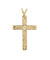 Blessed Hawaiian Plumeria Flower Cross Pendant, 14K Gold