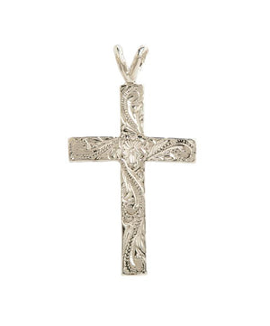 Hawaiian Cross Pendant Sterling Silver