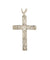 Blessed Hawaiian Plumeria Flower Cross Pendant, Sterling Silver