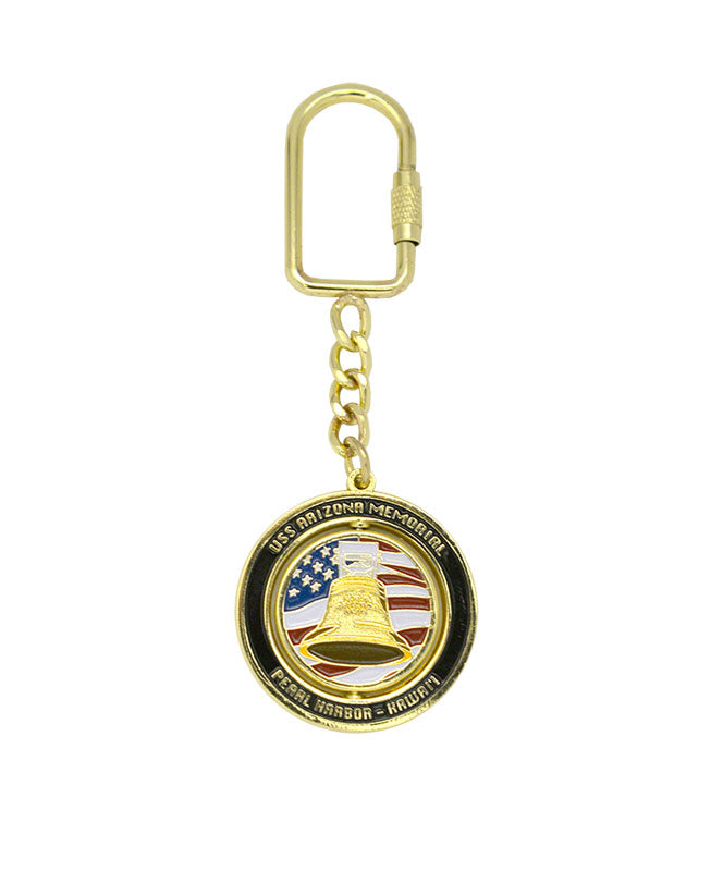 USS Arizona Bell Spinner Keychain