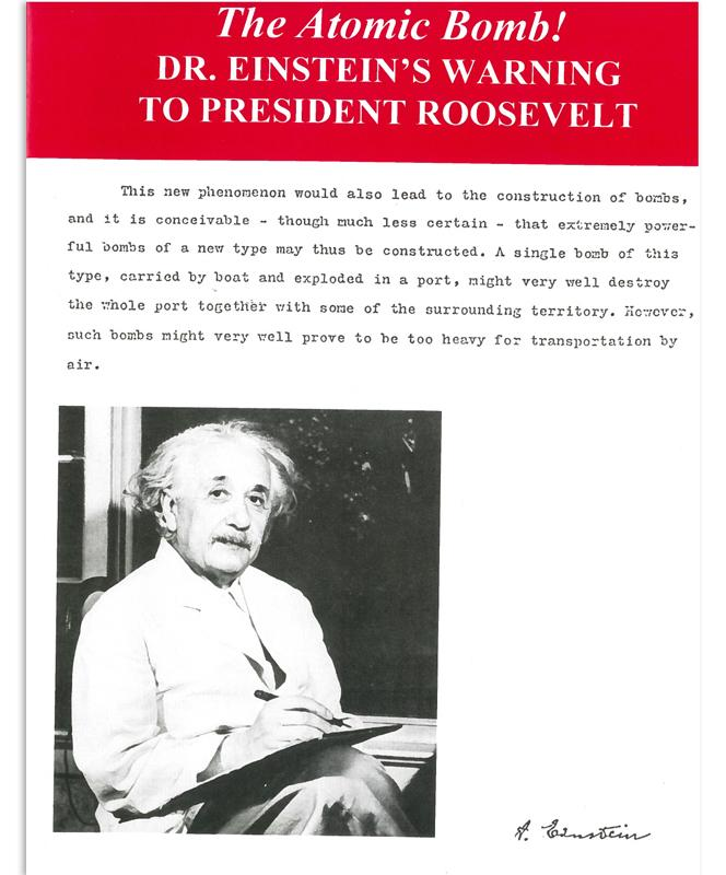 The Atomic Bomb! Dr. Einstein's Warning to President Roosevelt