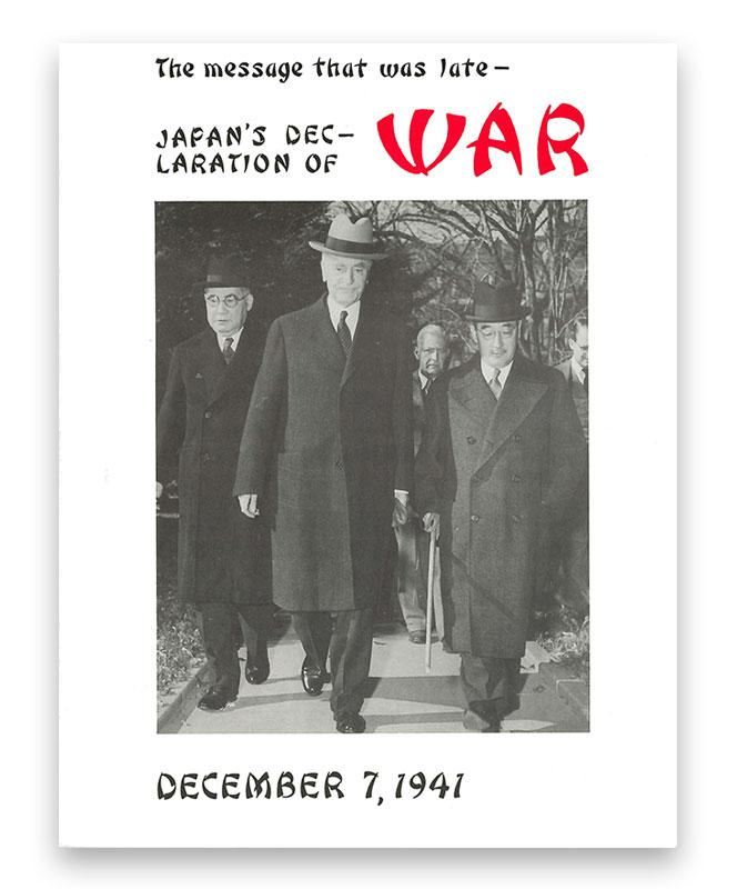 Japan's Declaration of War: December 7, 1941