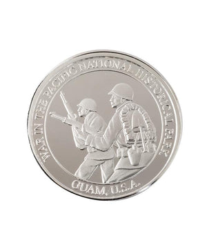 War in the Pacific National Historical Park Commemorative Coin, Pure Silver